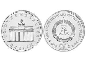 """20-Mark-Gedenkmünze """"Öffnung des Brandenburger Tors"""""""