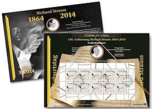 "Numisblatt: ""150. Geb. Richard Strauss"""