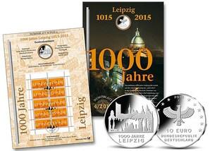 """Numisblatt: """"1000 Jahre Leipzig"""""""