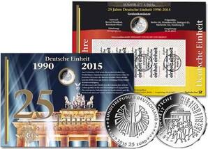"""Numisblatt: """"25 Jahre Deutsche Einheit"""""""