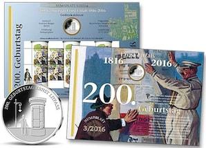 "Numisblatt: ""200. Geburtstag Ernst Litfaß"""