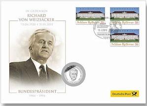 """Medaillenbrief: """"Richard von Weizsäcker"""""""