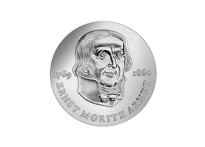 """DDR Münze: 20 Mark """"125. Todestag von Ernst Moritz Arndt"""", 1985 (Vorzüglich/Stempelglanz)"""