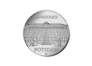 """DDR Münze: Münze: 5 Mark """"Schloß Sanssouci in Potsdam"""", 1986 (Vorzüglich/Stempelglanz)"""