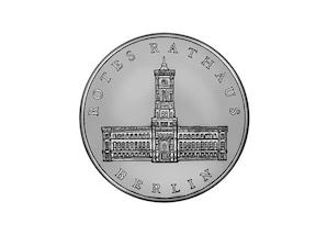 """DDR Münze: 5 Mark """"Rotes Rathaus in Berlin"""", 1987 (Vorzüglich/Stempelglanz)"""