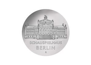 """DDR Münze: 10 Mark """"Schauspielhaus in Berlin"""", 1987 (Vorzüglich/Stempelglanz)"""