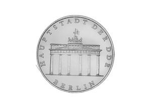 """DDR Münze: 5 Mark """"750-Jahrfeier Berlin (Brandenb. Tor)"""", 1987 (Vorzüglich/Stempelglanz)"""