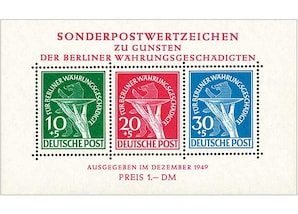 "Berlin (West), ""Berliner Block Nr. 1"", Blockausgabe"