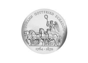 """DDR Münze: 10 Mark """"225. Geburtstag von Johann Gottfried Schadow"""", 1989 (Vorzüglich/Stempelglanz)"""