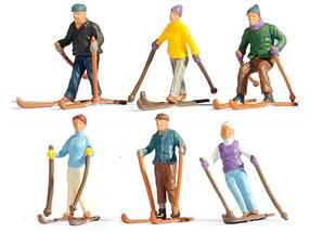 "Figuren-Set ""Skifahrer"", H0"