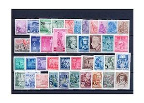 DDR, Briefmarken-Jahrgang 1955