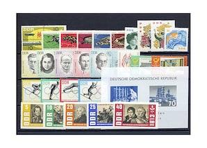 DDR, Briefmarken-Jahrgang 1963