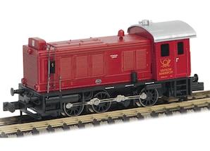 "Diesellok V36, rot, ""DB"", Epoche III, Spur N"