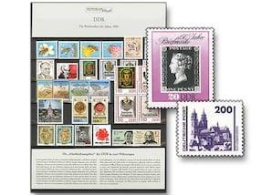 DDR, Briefmarken-Jahrgang 1990