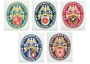 """Deutsches Reich, Weimarer Republik 1929 """"Landeswappen IV"""""""