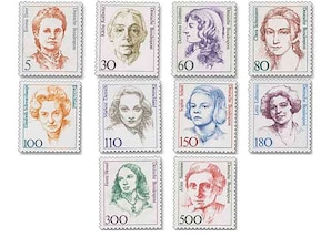 """BRD, Dauerserie """"Frauen der deutschen Geschichte"""" in DM-Währung"""