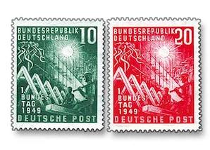 """BRD, """"Eröffnung des ersten Deutschen Bundestages"""", Bonn"""