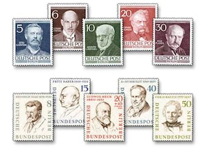 """Berlin (West), """"Männer aus der Geschichte Berlins"""", Ausgaben I und II"""