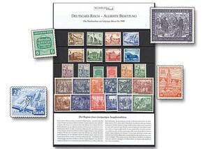 """Raritäten-Steckkarte, """"Die Briefmarken zur Leipziger Messe bis 1949"""""""