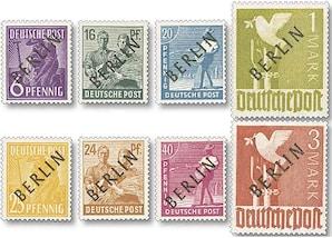 """West-Berlin, Freimarken mit Schwarz-Aufdruck """"Berlin"""""""