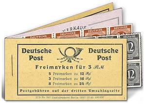 """Alliierte Besatzung, Gemeinschaftsausgaben Markenheftchen """"Ziffernserie"""""""
