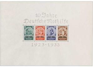 """Deutsches Reich """"10 Jahre Deutsche Nothilfe"""", 1933"""