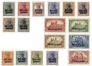 Memelgebiet-Freimarken, PWZ 1-17