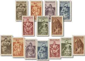 """Saargebiet, Volkshilfe-Ausgaben mit und ohne Aufdruck """"Volksabstimmung 1935"""", Set"""
