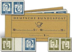 """Bund-Markenheftchen und Kehrdrucke """"Albertus Magnus und Luther"""""""