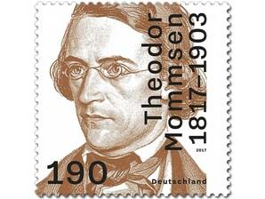 200. Geb. Theodor Mommsen, Briefmarke zu 1,90 €, 10er-Bogen