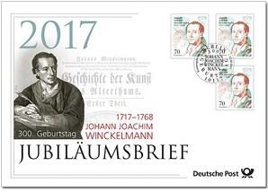 "Jubiläumsbrief: ""300. Geburtstag Johann Joachim Winckelmann"""