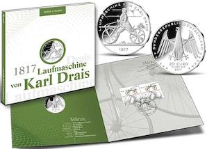 "Numisfolder Münze & Marke: ""200 Jahre Fahrrad"""