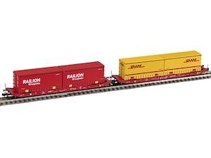 Containerwagen Sgkkms 689, 2-tlg., Spur N