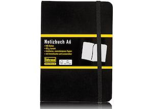 Idena Notizbuch DIN A6, 192 Blatt, kariert