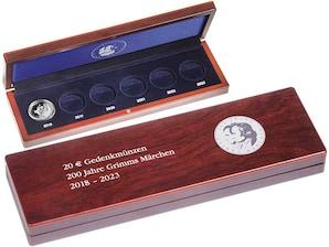 """Kassette 20 Euro Münzen """"Grimms Märchen"""" 2018 - 2023"""