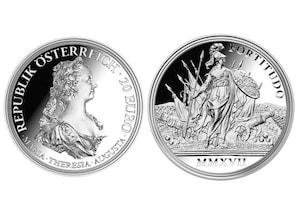 """20 Euro Silbermünze """"Maria Theresia"""" (Tugend)"""
