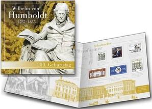 """Schmuckblatt """"250. Geburtstag Wilhelm von Humboldt"""""""