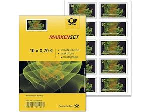 """Markenset """"Astrophysik Gravitationswellen"""", Briefmarke zu 0,70€, 10er-Set"""