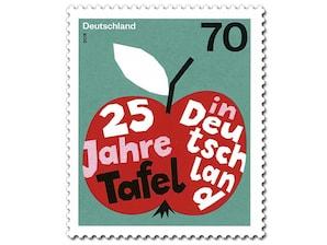 25 Jahre Tafel in Deutschland, Briefmarke zu 0,70€, 10er-Bogen