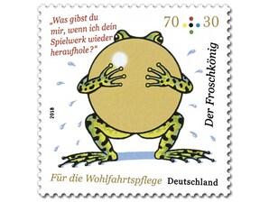 Der Froschkönig - Goldene Kugel, Briefmarke zu 0,70 + 0,30€, 10er-Bogen