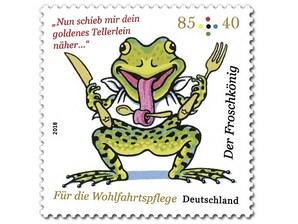 Der Froschkönig - Goldenes Besteck, Briefmarke zu 0,85 + 0,40€, 10er-Bogen
