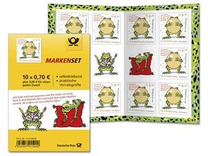 """Markenset """"Der Froschkönig"""", Briefmarke zu 0,70 + 0,30€, 10er-Set"""