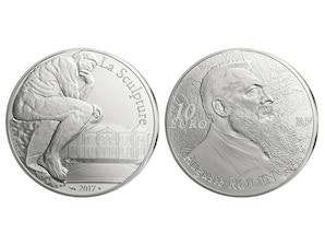 10 Euro-Münze Auguste Rodin
