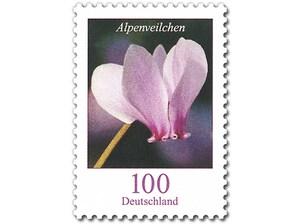 Alpenveilchen, Briefmarke zu 1,00€, 10er-Bogen