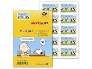 "Markenset ""Die Peanuts-Rasselbande"", 0,90 EUR, 10er-Set"