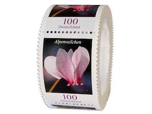 Alpenveilchen, Briefmarke zu 1,00€, 200er-Rolle