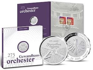 """Numisfolder Münze & Marke: """"275 Jahre Gewandhausorchester"""""""
