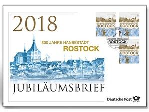 """Jubiläumsbrief """"800 Jahre Rostock"""""""